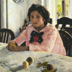devochka s persikami Walenti Serow 1887