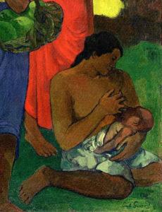 Кормящая мать на картине Поля Гогена Материнство II