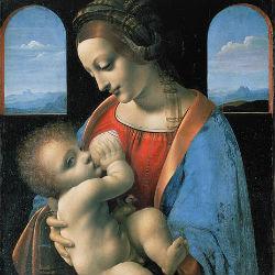 Мадонна Литта - Леонардо да Винчи, 1490