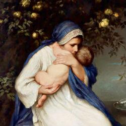 мать с ребенком - Луиза Макс Эхрлер. 1920