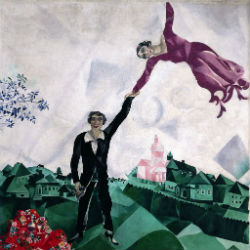 Прогулка - Марк Шагал, 1918.